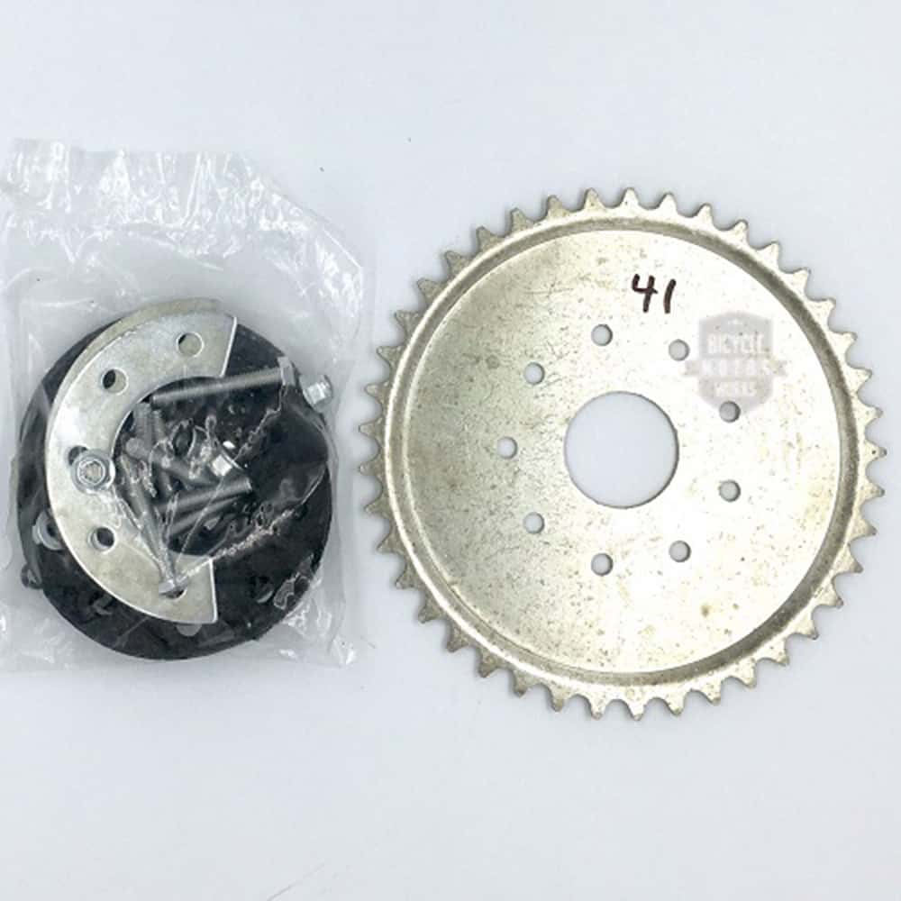 41 Tooth Sprocket With Mount Hardware For 49cc 66 80cc Motorized Bicycle